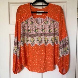 Maeve (Anthropologie) orange blouse. Size M.